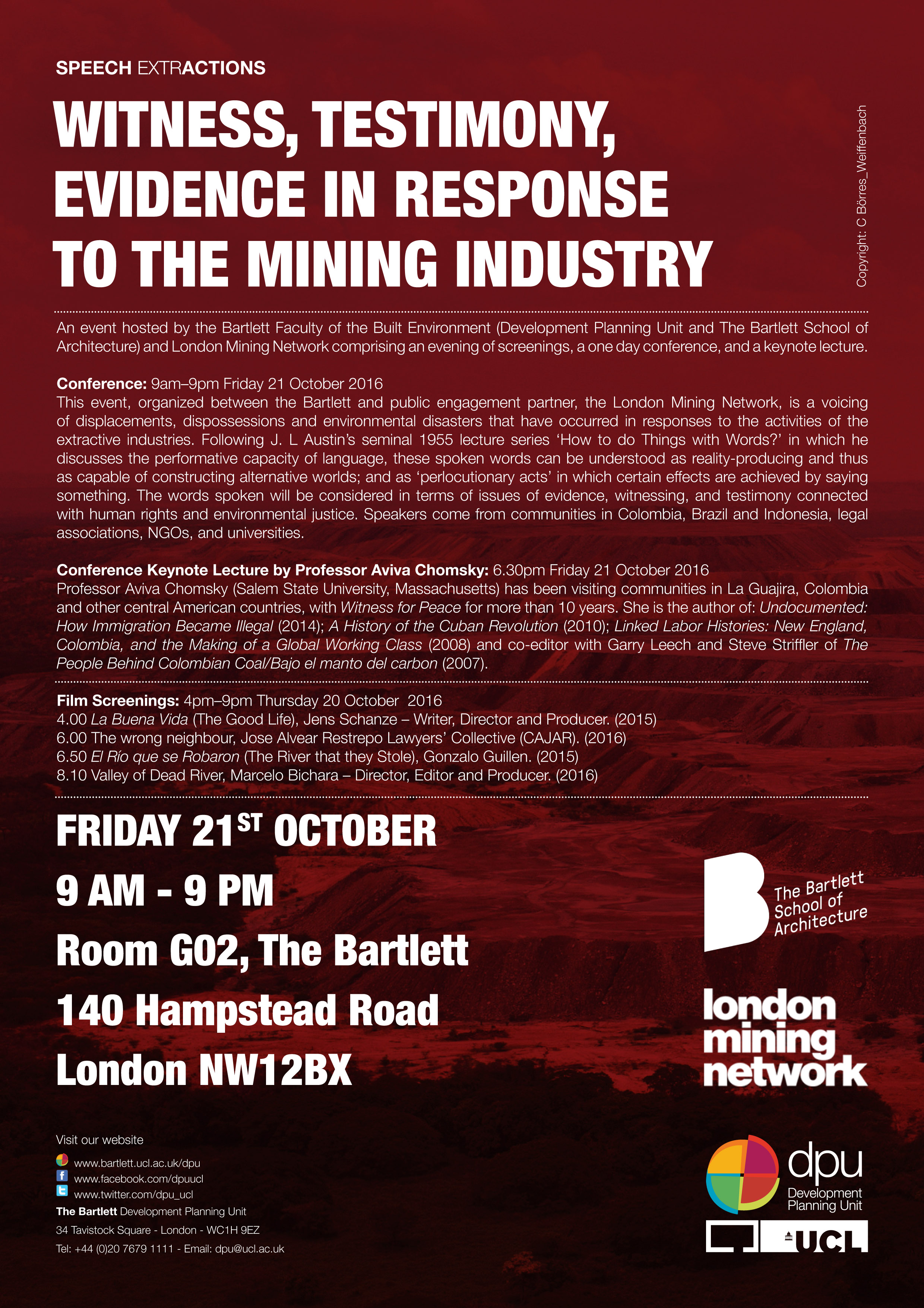 Witness, Testimony, Evidence in Response to the Mining Industry (20-21/10/16)