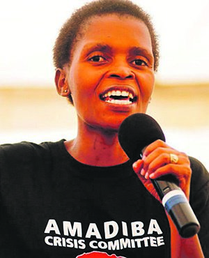 HANDS OFF AMADIBA! Community leader Nonhle Mbuthuma speaks