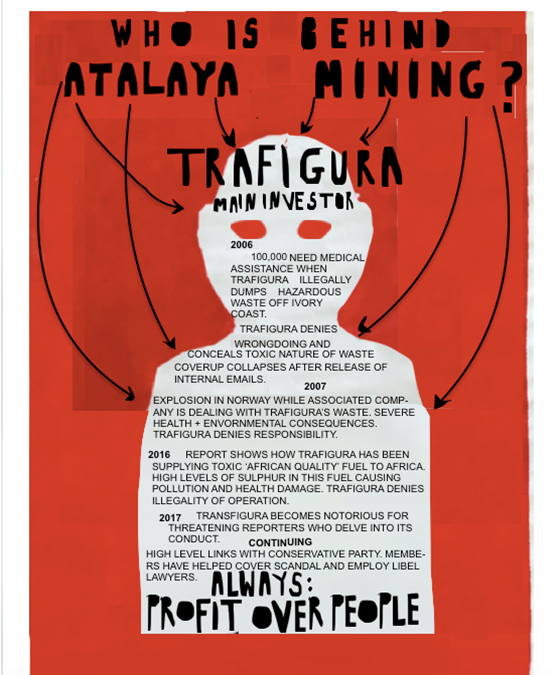 Two activists at the AGM of a 'Junior' mining company: a 'Dud' and a 'Borderline Fruitcake'