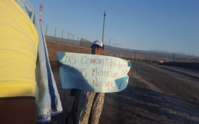 Families occupy Cerrejon mine in Colombia to demand their rights